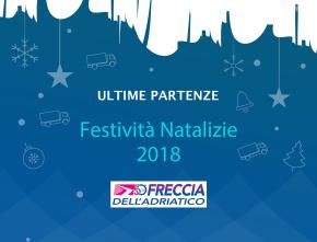 Operatività Festività Natalizie 2018